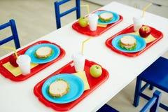 Szkoła podstawowa lunch Zdjęcia Stock