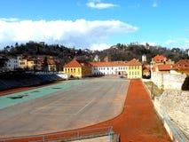 Szkoła sporta stadium w Brasov Fotografia Stock