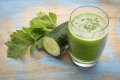 Szkło świeży zielony sok Obraz Royalty Free