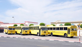szkoły autobusowa stacja Zdjęcia Royalty Free