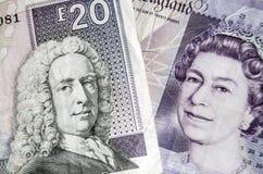 Szkoccy i Angielscy banknoty Obrazy Royalty Free