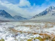 Szkoccy średniogórza Sceniczni, Glencoe, Szkocja Zdjęcia Stock