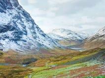 Szkoccy średniogórza Sceniczni, Glencoe, Szkocja Zdjęcie Stock