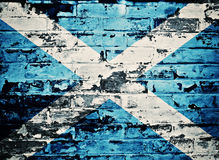 Szkocja flaga malująca na starym ściana z cegieł Obraz Royalty Free