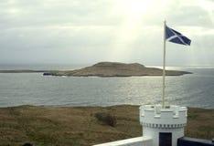 Szkocja flaga na wyspie Skye obraz stock