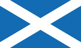 Szkocja flagi wektor eps10 Szkocka flaga flaga Scotland saint andrew ilustracja wektor