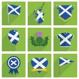 Szkocja ikony Obraz Royalty Free