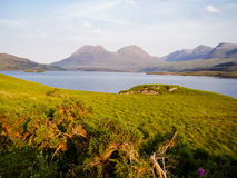 Szkocja linii brzegowej natura fotografia stock