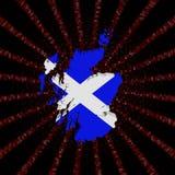 Szkocja mapy flaga na czerwonej hex kodu wybuchu ilustraci royalty ilustracja