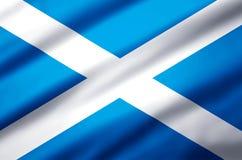 Szkocja realistyczna chorągwiana ilustracja royalty ilustracja