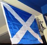 Szkocka biała flaga i błękit Fotografia Royalty Free