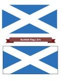 Szkocka flaga Zdjęcia Stock