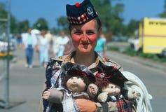 Szkocka kobieta Zdjęcia Royalty Free