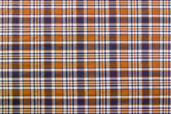 Szkocka krata wzory w Brown, Ciemnym marynarki wojennej błękicie i bielu, zdjęcie royalty free