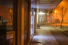 Szkocka mgła W Tureckim lata i wakacje Urlopowym miasteczku zdjęcia stock