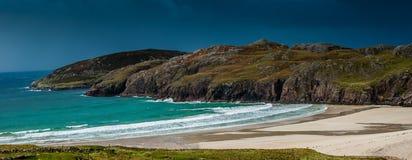 Szkocka plaża w zimie Zdjęcie Stock
