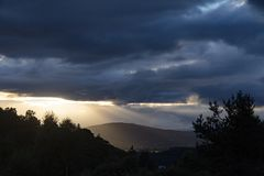 szkocka słońca Fotografia Royalty Free