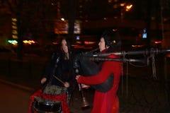 Szkocka uliczna muzyka Zdjęcia Royalty Free