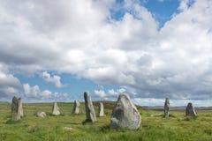 Szkocka wieś z pozycja kamieniami obraz royalty free