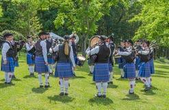 Szkocki dudkowanie zespół Obrazy Royalty Free