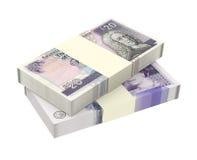 Szkocki i Brytyjski pieniądze odizolowywający na białym tle Obrazy Royalty Free