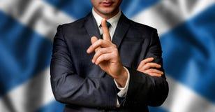 Szkocki kandydat mówi ludzie tłumów Zdjęcia Stock