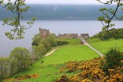 Szkocki kasztel Loch Ness Zdjęcia Royalty Free