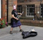 Szkocki muzyk Zdjęcia Royalty Free