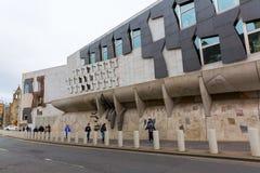 Szkocki parlament w Edynburg, UK Fotografia Royalty Free