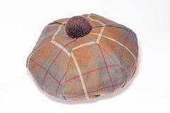 Szkocki tartanu kapelusz Zdjęcia Royalty Free