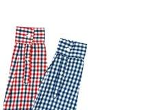 Szkockich krat koszula rękawy odizolowywający na białym tle obraz stock