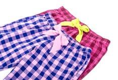 Szkockich krat Pyjamas spodnia -1 obrazy stock