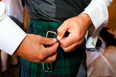 Szkockiego Kilt Ślubny ubiór zdjęcie stock