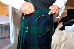 Szkockiego Kilt Ślubny ubiór obrazy stock