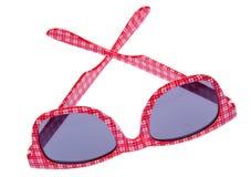 szkockiej kraty czerwieni okulary przeciwsłoneczne Fotografia Stock