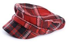szkockiej kraty kapeluszowa kobieta s Obraz Royalty Free