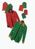 Szkockiej kraty koszula Obrazy Royalty Free