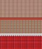 Szkockiej kraty spódnicy paskujący wzór ilustracja wektor