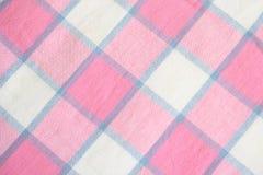 Szkockiej kraty Tablecloth Obrazy Stock