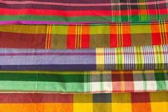 Szkockiej kraty tkanina Zdjęcia Royalty Free