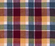Szkockiej kraty tkanina Fotografia Stock