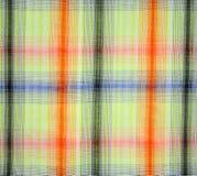 Szkockiej kraty tkanina fotografia royalty free