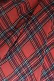 Szkockiej kraty tkaniny tło obraz royalty free