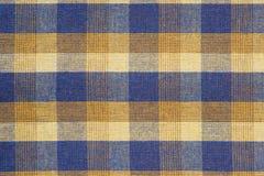 Szkockiej kraty tkaniny zakończenie up zdjęcie stock