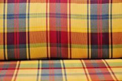 szkockiej kraty wyściełająca tkanina Zdjęcia Stock