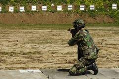 szkolenie bojowe wojskowe Obrazy Stock