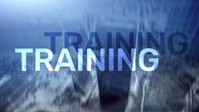 szkolenie rozwoju ogłoszenie towarzyskie Biznes i edukacja, nauczania online pojęcie obraz stock
