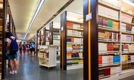 Szkolna biblioteka, studencka biblioteka Fotografia Royalty Free