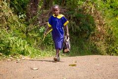 Szkolna dziewczyna w Afryka Fotografia Stock