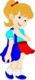 Szkolna dziewczyna z torbą Zdjęcia Stock